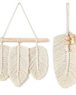 Boho Chic Bohemian Nordic Style Cotton Hand-woven Leaves