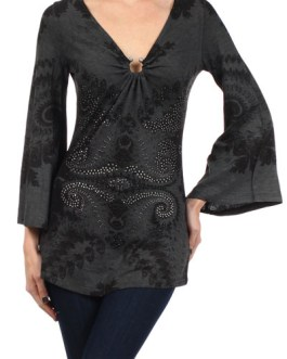 Boho Chic Tunic Bell Sleeves And Ring