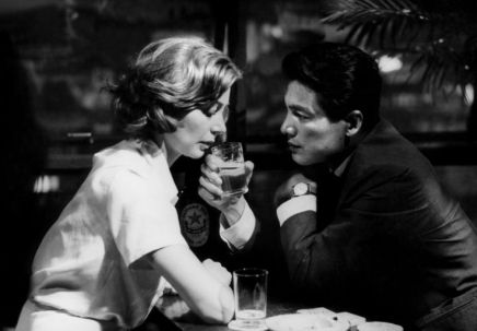 Hiroshima Mon Amour, 1959 (directed by Alain Resnais from screenplay by Marguerite Duras starring Emmanuelle Riva and Eiki Okada)