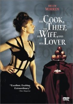 The Cook, The Thief, His Wife & Her Lover by Peter Greenaway starring Helen Mirren with costumes by Jean Paul Gaultier