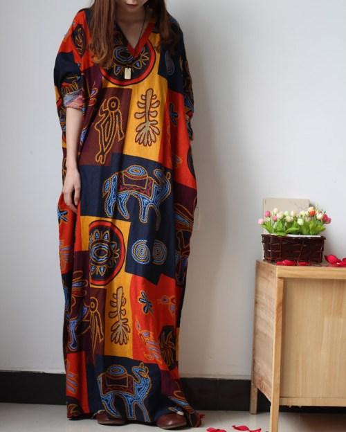Chaos in Gangnam платье с этно принтом
