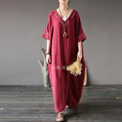 Pale ink длинное платье с V-образным воротником