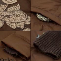 Artka пуховик с вышивкой