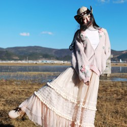 MOK длинная плиссированная юбка