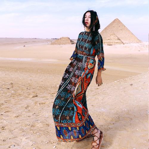 MOK шифоновое платье с узорами