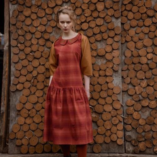 WonderMary платье красное в клетку