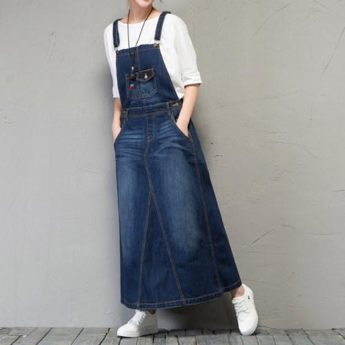 QYCQ сарафан джинсовый в пол