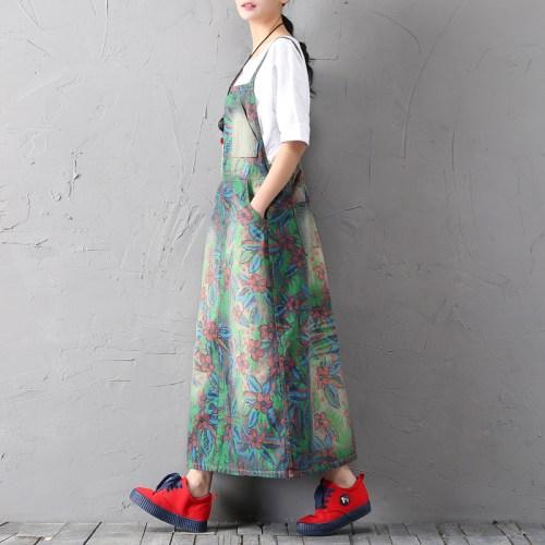QYCQ сарафан в пол с цветами