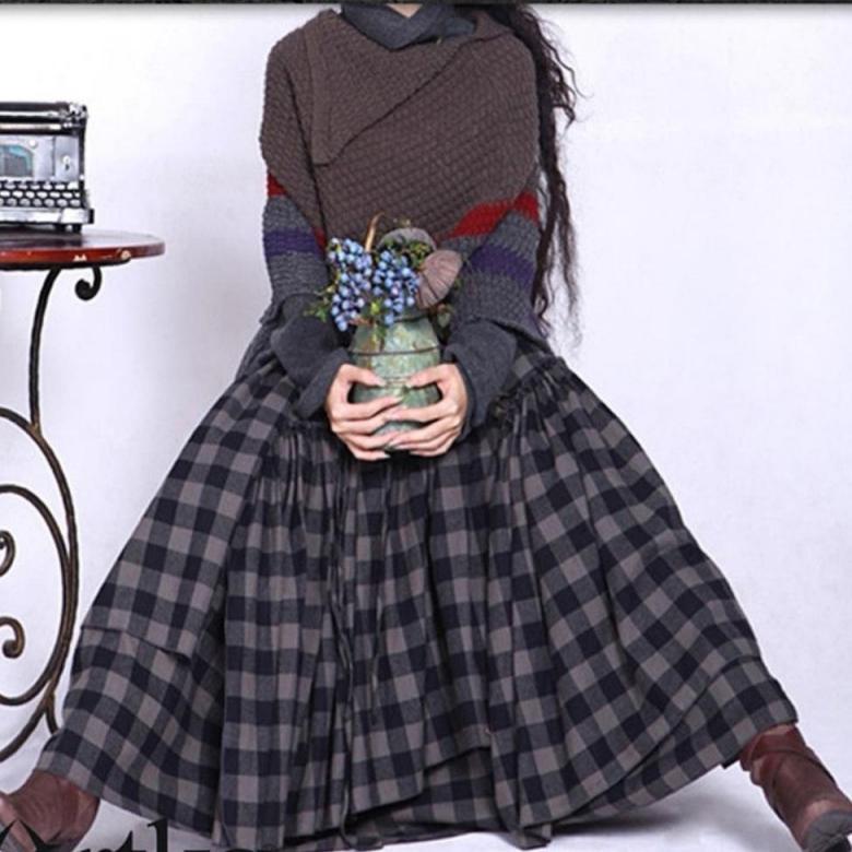 Хлопковая юбка «клетка» Artka (шоу-рум)