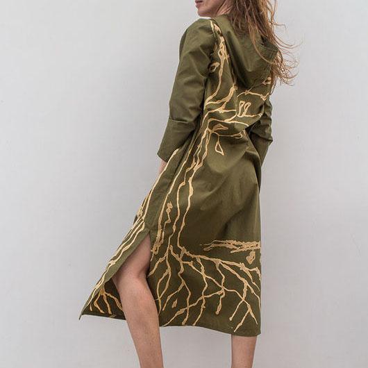 MarlЁn платье с капюшоном цвета хаки