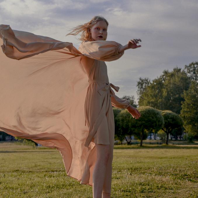 WonderMary платье Летящее бежевое