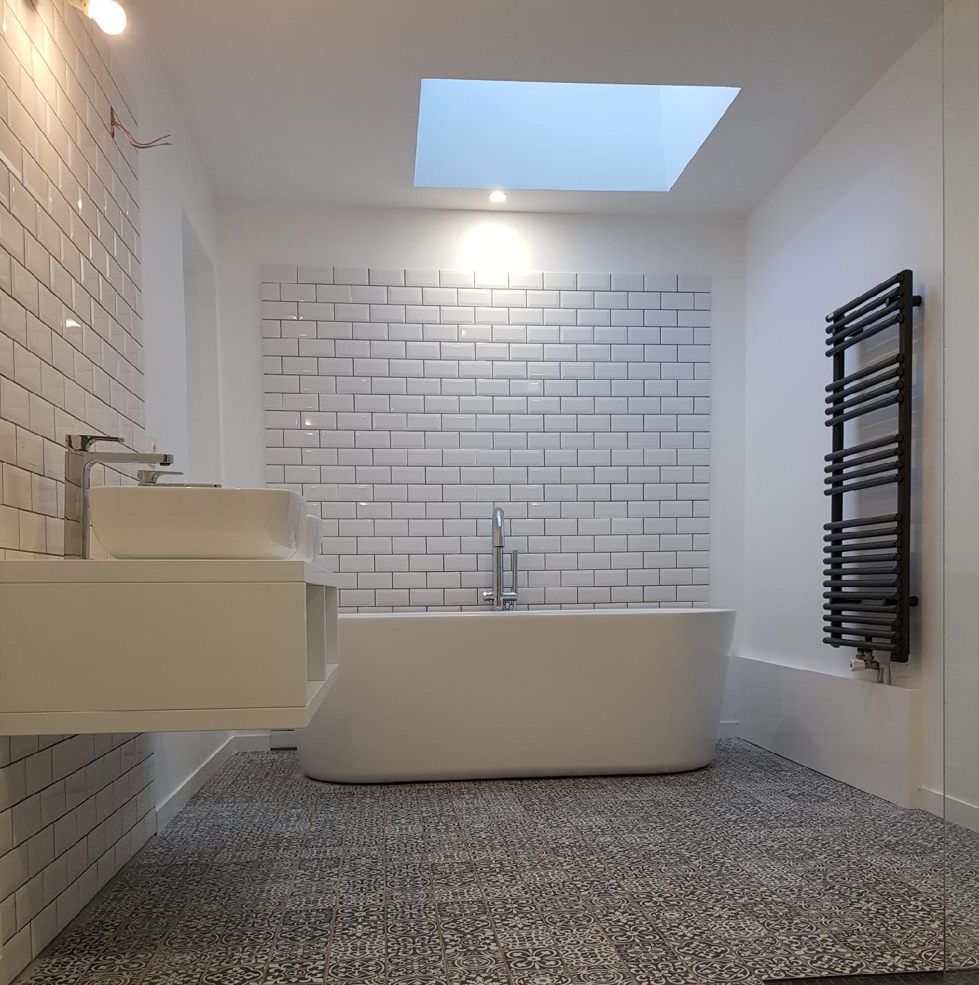 Vue d'ensemble de la salle de bain