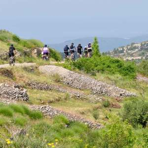 Boho travel art cycling Cetina canyon