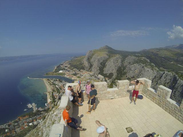Boho travel art hiking fortress fortica