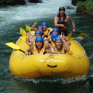 Boho travel art, rafting on the Cetina river