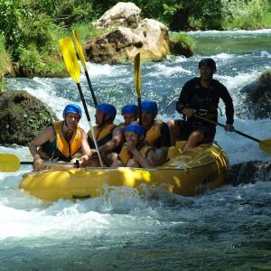 Boho travel art, rafting on the Cetina river