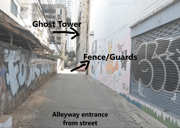 Alleyway leading to Ghost Tower