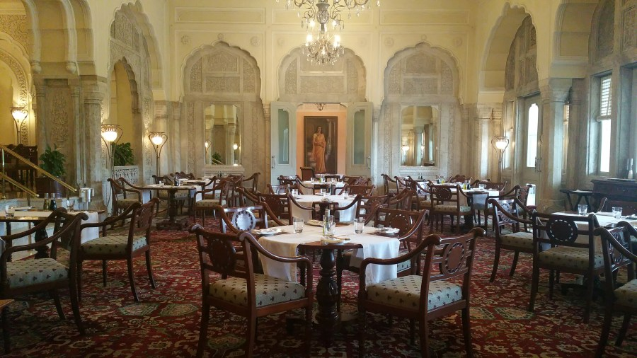 The Rajput Dining Hall at Rambagh Palace
