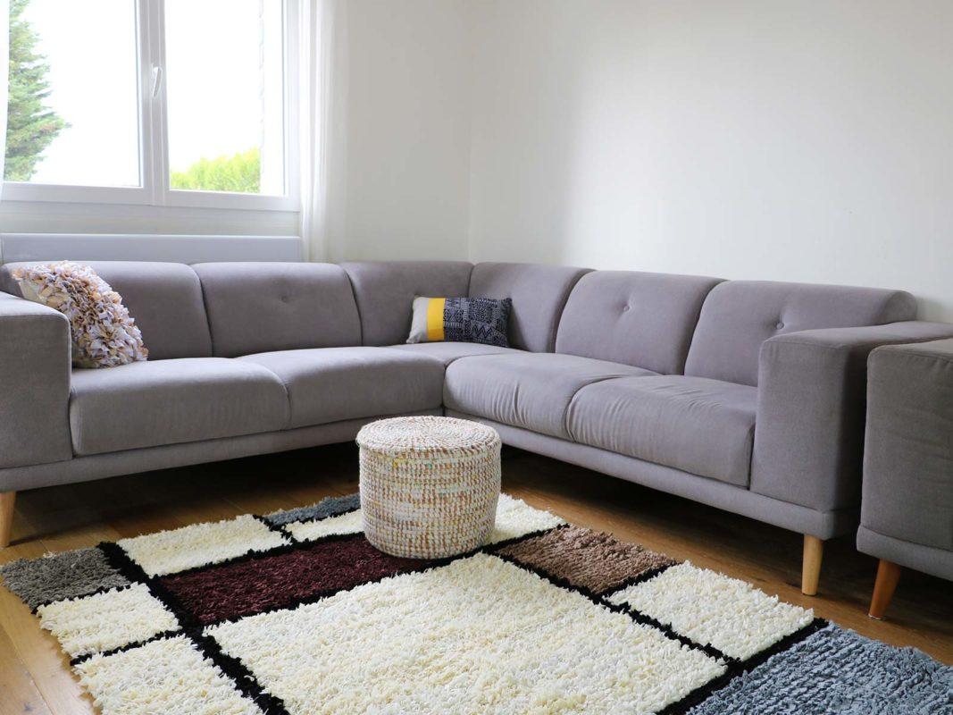 quel tapis avec un canape gris nos