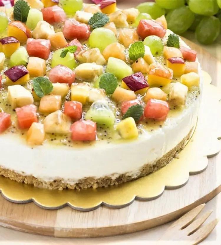 mix fruit cheesecake