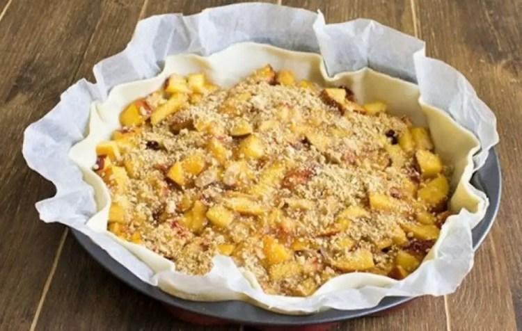Puff Pastry Peach Pie