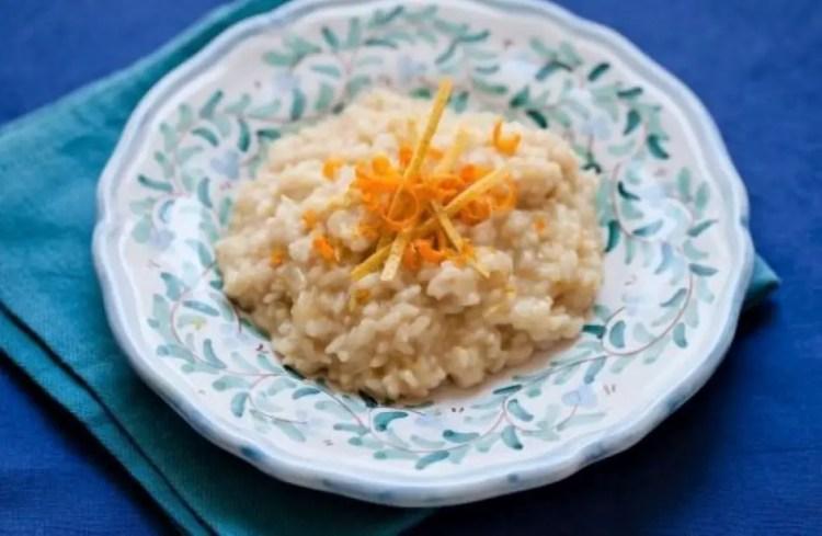 Orange risotto