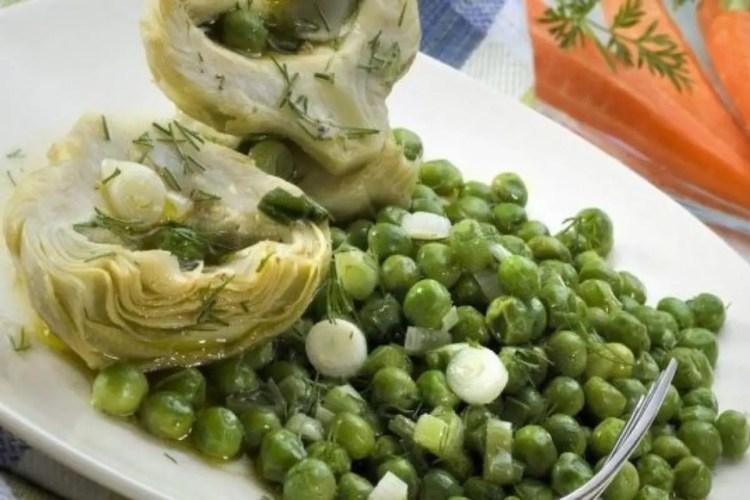 artichokes and peas