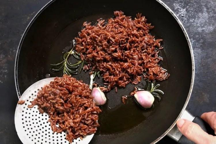Wild rice with lentils