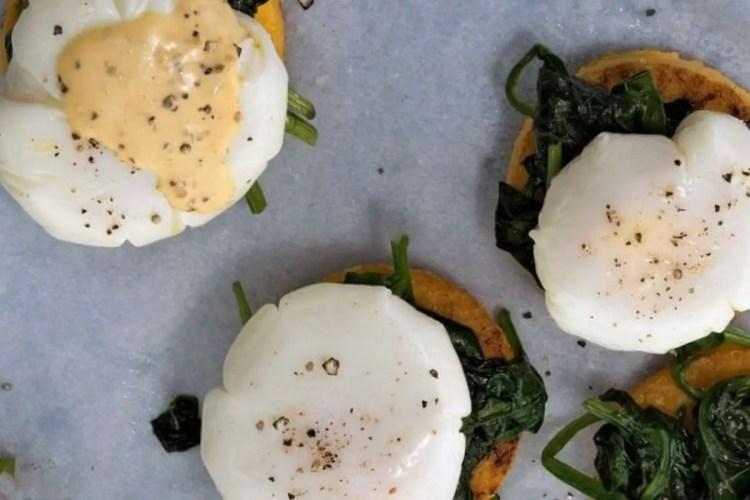 Polenta poached egg