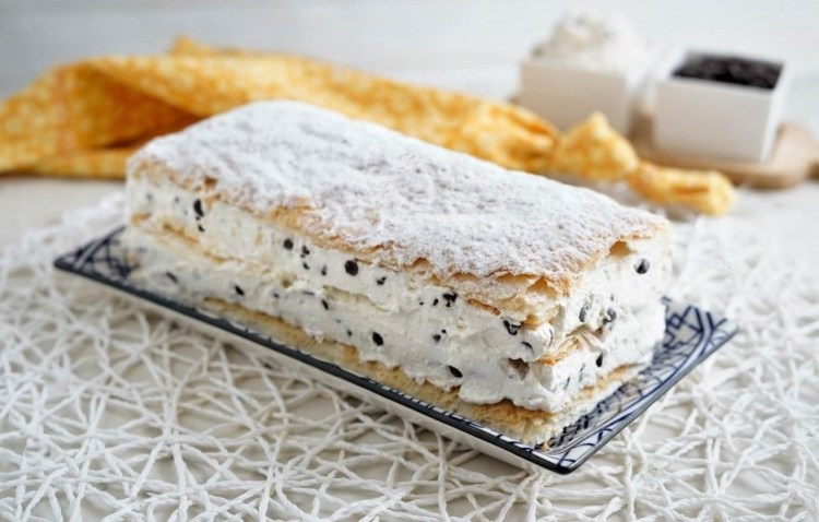 Millefeuille with ricotta