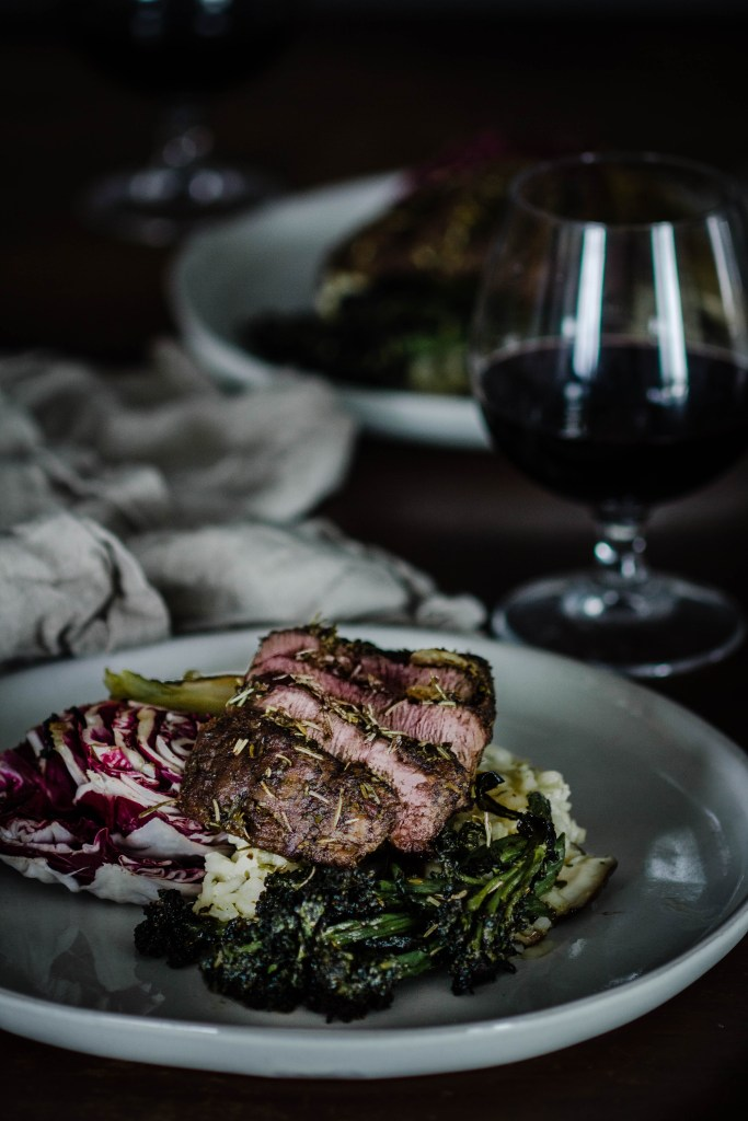 Valentine's Day Filet Mignon Dinner in less 1 Hour from Boiled Wheat Blog by Kristen McSorley, Bozeman Montana Food Photographer