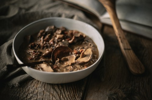 Wild Rice, Chicken, and Mushroom Soup from Boiled Wheat Blog, by Kristen McSorley, Montana Food and Travel Photography