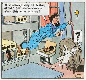 Una Vignetta in stle linea Chiara tipica della bande dessinee Franco Belga