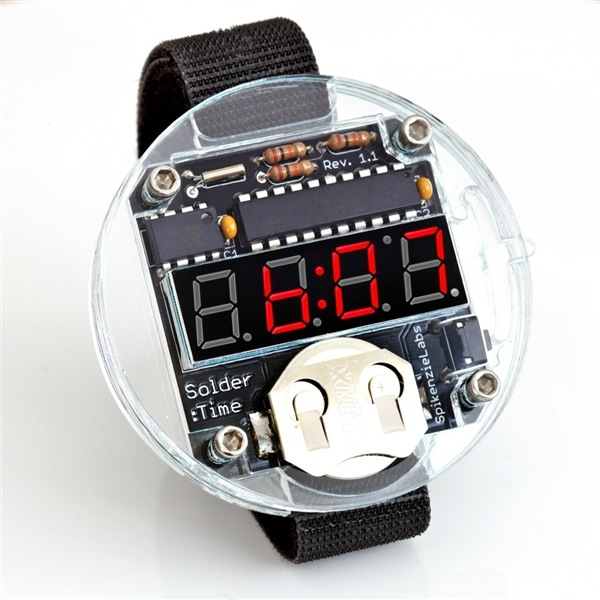 Fun Beginner's Electronic Project - The Solder: Time LED Watch | Make: