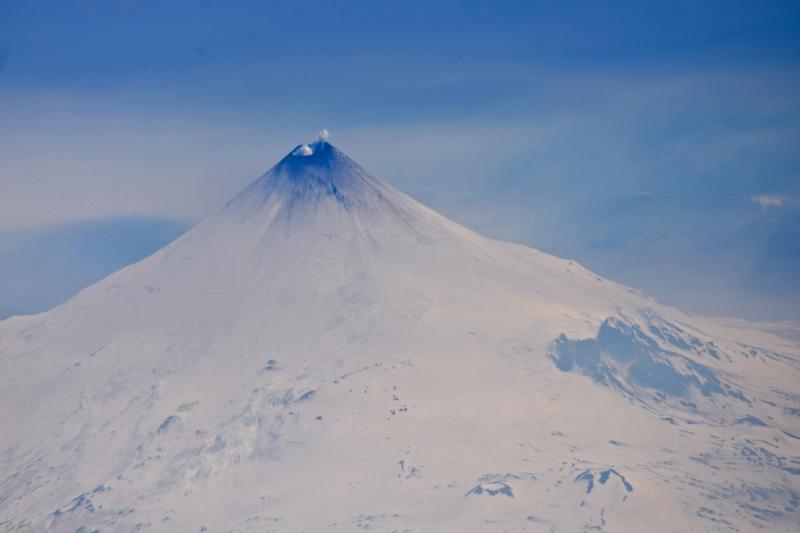 Photo of Shishaldin taken from an Alaska Airlines 737 enroute to Adak on 5/22/14. [avo.alaska.edu]
