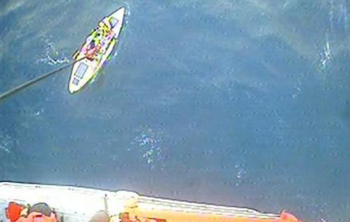 US Coast Guard rescue footage.