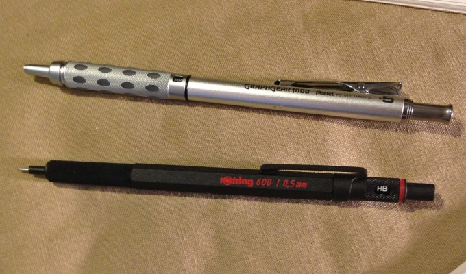 TWO SHOT Rotring and Pentel Graphgear
