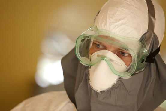 In an undated photo, Dr. Brantly wears protective gear at the case management center on the campus of ELWA Hospital in Monrovia, Liberia. Dr. Brantly contracted Ebola and has been described as stable but suffering from some symptoms of the contagious disease. Reuters