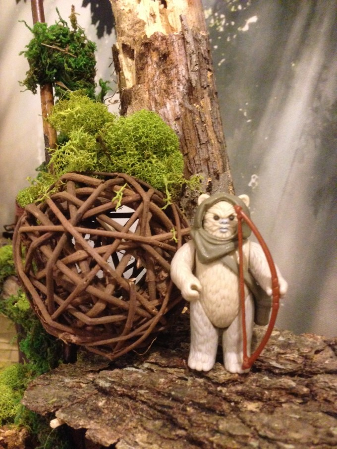 Here's an Ewok archer up in the trees.