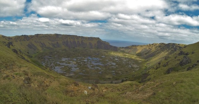 Crater at Rano Kau
