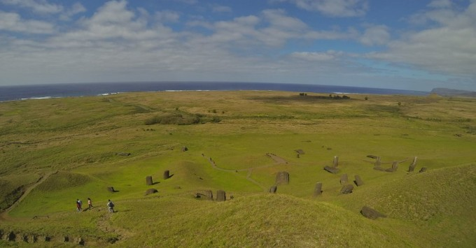 Looking out from Rano Raraku