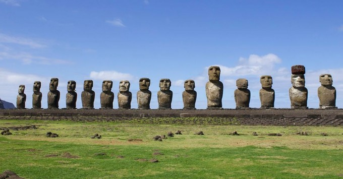 The moai at Ahu Tongariki.