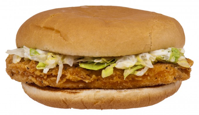 This is a McChicken sandwich from McDonald's.  They're made for eating, not beating.