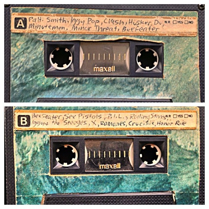 One of the compilation tapes I made for my brother Carl in the 1980s. We will be playing some of these tunes on the show tonight.