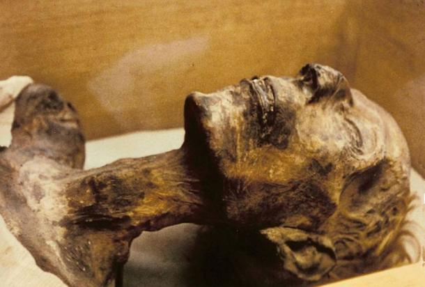 The mummy of Ramesses the Great in Cairo Museum, Egypt (Wikimedia Commons)