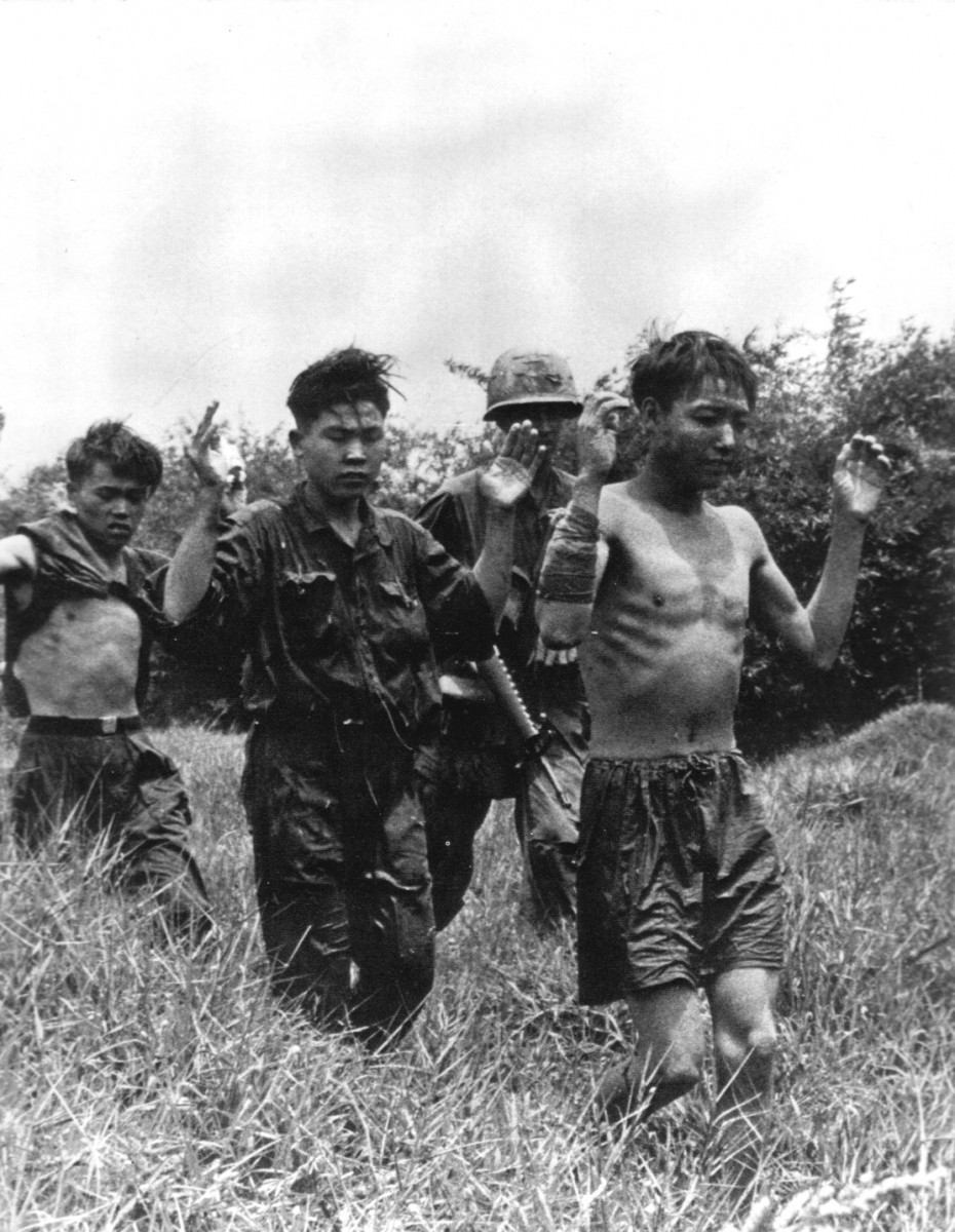 Viet Cong prisoners are escorted to a collection point by a South Vietnamese unit in September 1968. REUTERS/Courtesy U.S. Army