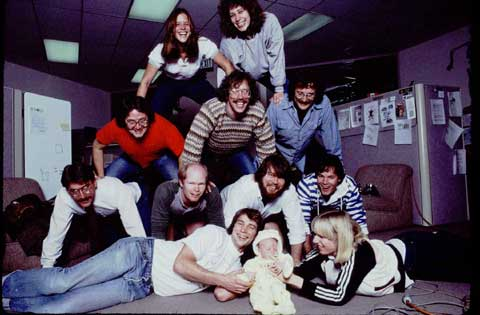 software team, photographed for Rolling Stone in January 1984