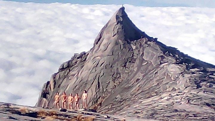 Tourists naked photo shoot atop Malaysian peak blamed for