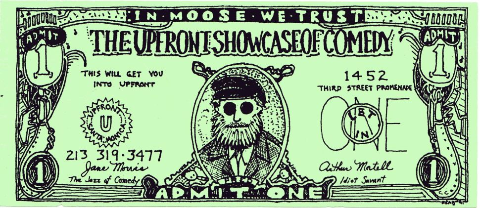 Old UpFront gift certificate