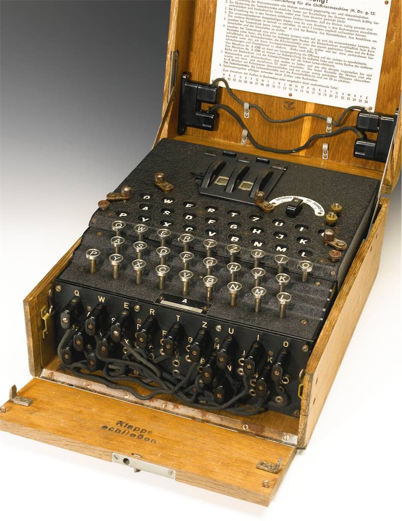 Enigma encryption machine from World War II sells for